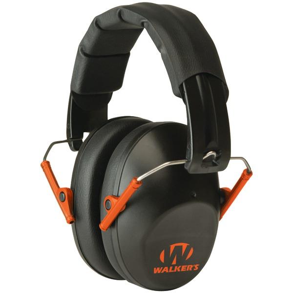 Walker's Game Ear(R) GWP-FPM1-BKO PRO Low-Profile Folding Muff (Black/Orange)