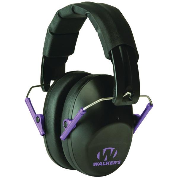 Walker's Game Ear(R) GWP-FPM1-BKPU PRO Low-Profile Folding Muff (Black/Purple)