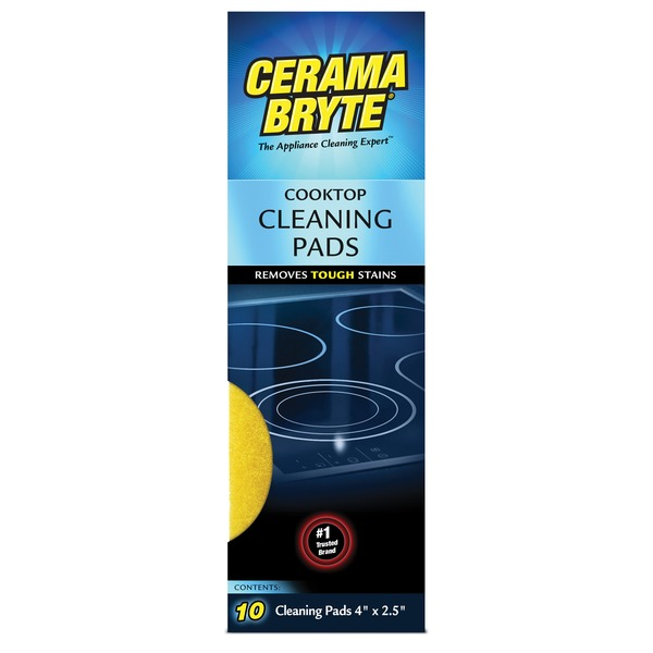 Cerama Bryte(R) 29106 Ceramic Cooktop Cleaning Pads, 10 pk
