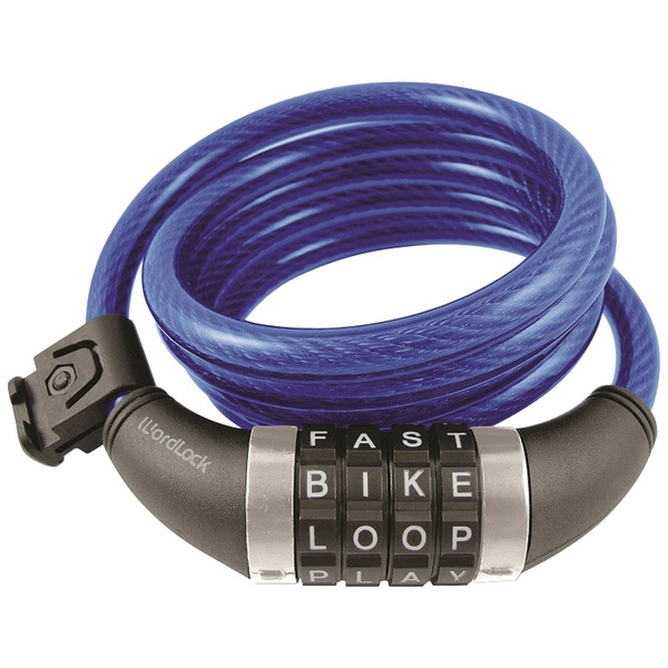 WordLock(R) CL-409-BL Combination Resettable Cable Lock (Blue)