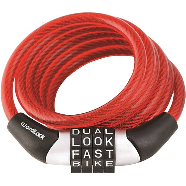 WordLock(R) CL-455-RD Combination Non-Resettable Cable Lock (Red)