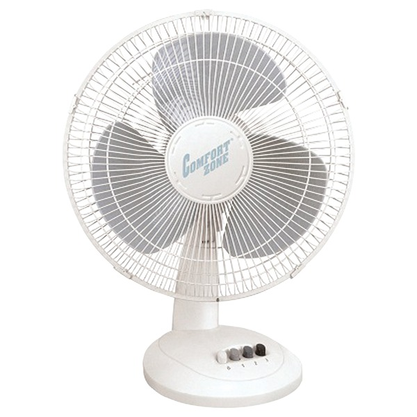 "Comfort Zone(R) CZ161 16"" Oscillating Table Fan"