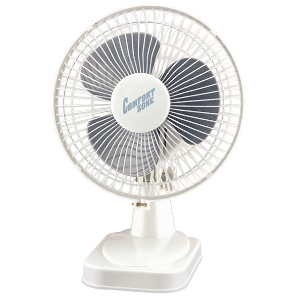 "Comfort Zone(R) CZ6D 6"" Table Fan (White)"