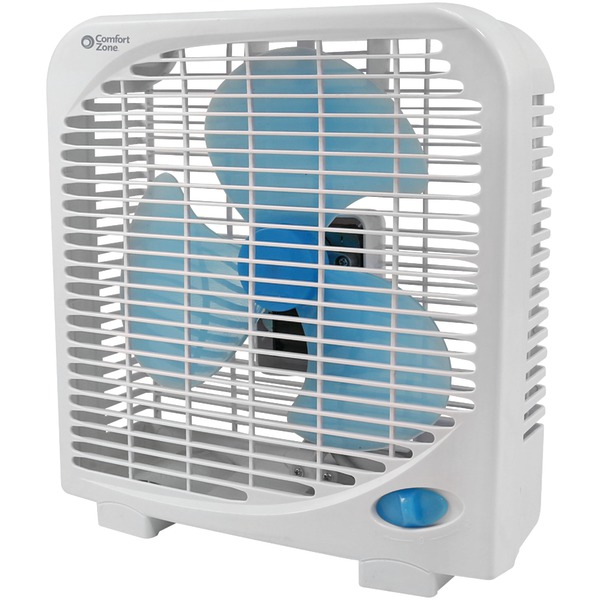 "Comfort Zone(R) CZ9BAS 9"", 2-Speed Portable Box Fan"