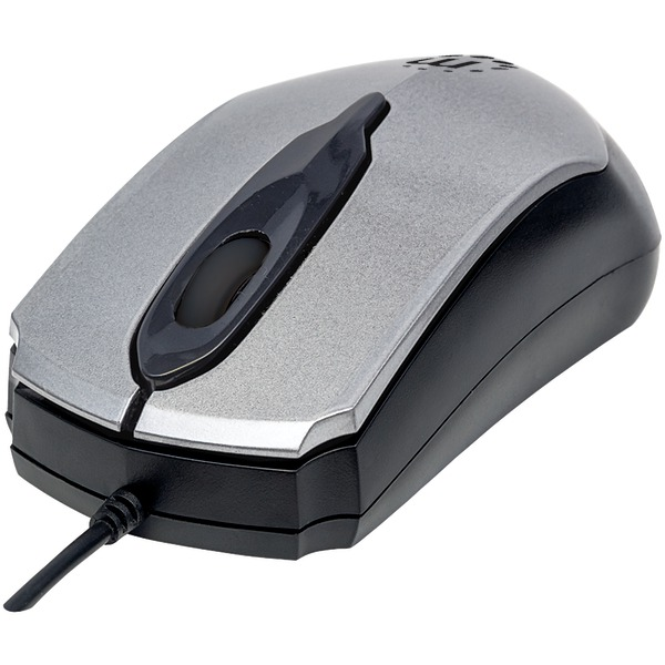Manhattan(R) 179423 Edge Optical USB Mouse (Gray/Black)