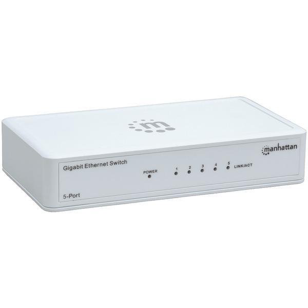 Manhattan(R) 560696 Gigabit Ethernet Switch (5 Port)