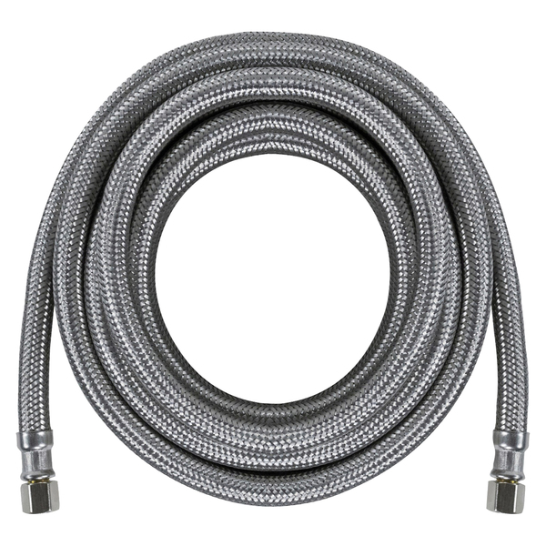 Certified Appliance Accessories(R) IM180SS Braided Stainless Steel Ice Maker Connector, 15ft