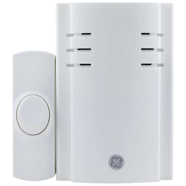 GE(R) 19298 Push-Button Plug-In Door Chime with 2 Melodies