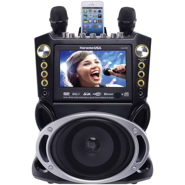 Karaoke USA(TM) GF844 Bluetooth(R) Karaoke Machine