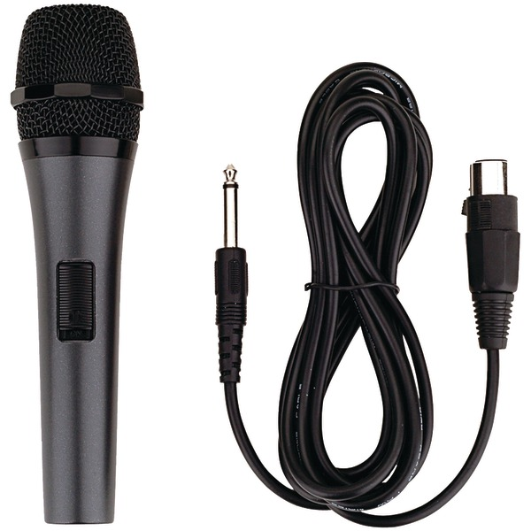 Karaoke USA(TM) M189 Professional Dynamic Microphone with Detachable Cord