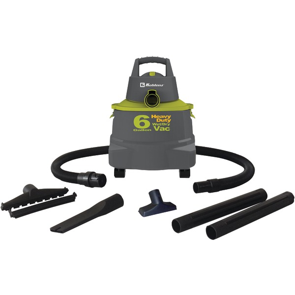 Koblenz(R) WD-6K Wet/Dry Vacuum Cleaner with 6-Gallon Tank