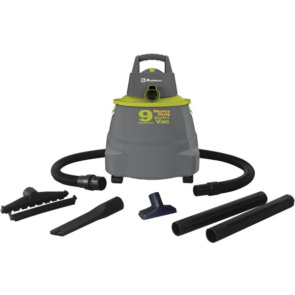 Koblenz(R) WD-9K Wet/Dry Vacuum Cleaner with 9-Gallon Tank