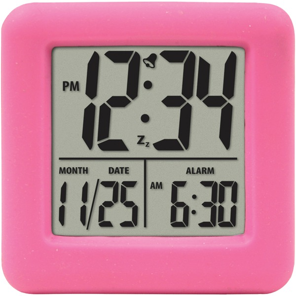 Equity(R) by La Crosse 70902 Soft Cube LCD Alarm Clock (Pink)
