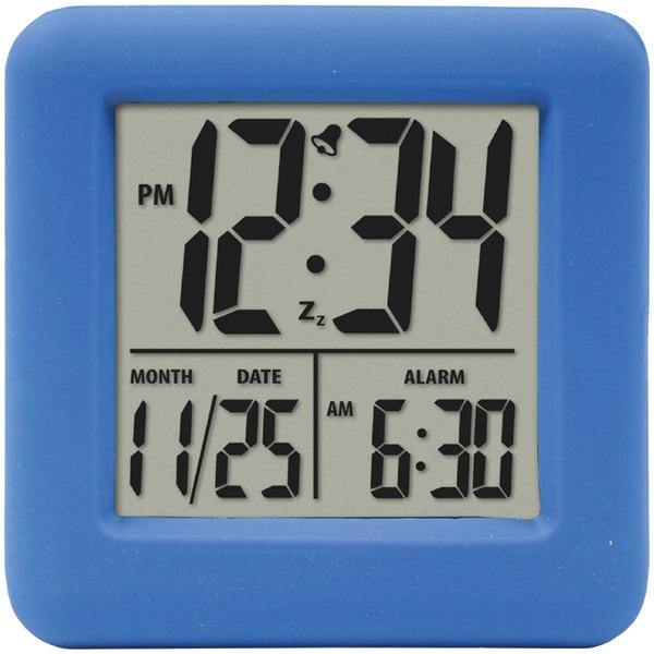 Equity(R) by La Crosse 70905 Soft Cube LCD Alarm Clock (Blue)