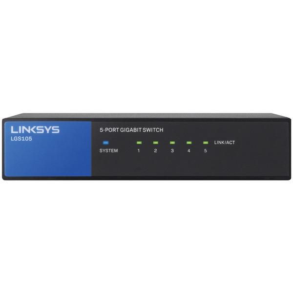 Linksys(R) LGS105 5-Port Desktop Gigabit Switch