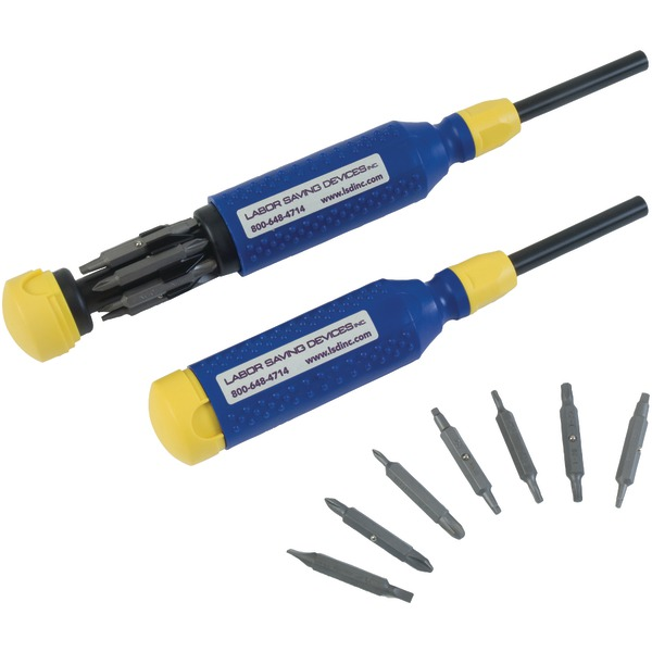 Labor Saving Devices 51-151 MegaPro 15-in-1 Standard Bit Screwdriver