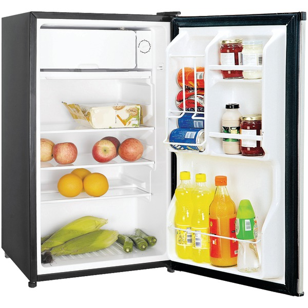 Magic Chef(R) MCBR350S2 3.5 Cubic-ft Refrigerator (Stainless Look)