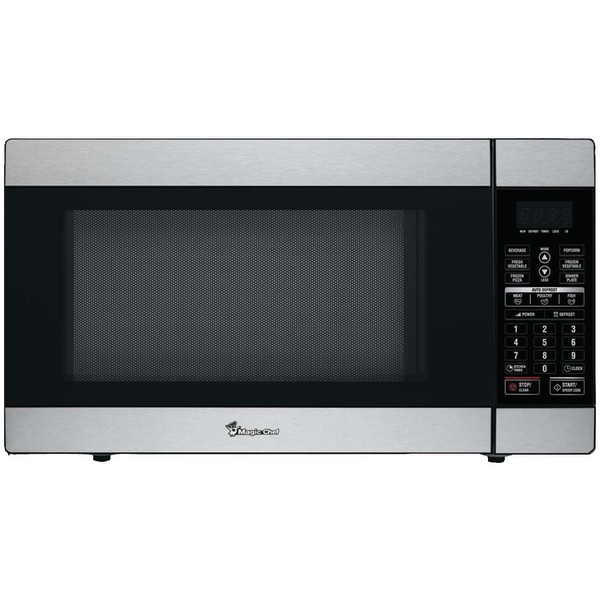 Magic Chef(R) MCD1811ST 1.8 Cubic-ft, 1,100-Watt Stainless Steel Microwave with Digital Touch