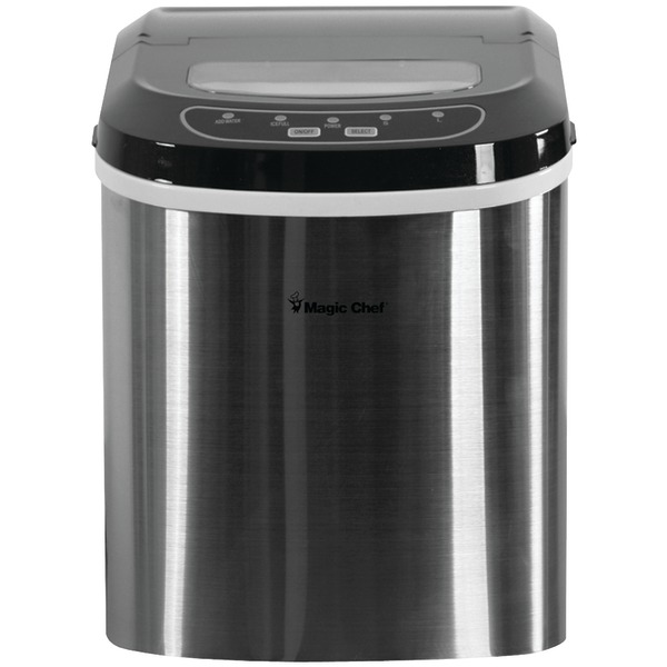 Magic Chef(R) MCIM22ST 27lb-Capacity Ice Maker (Stainless)