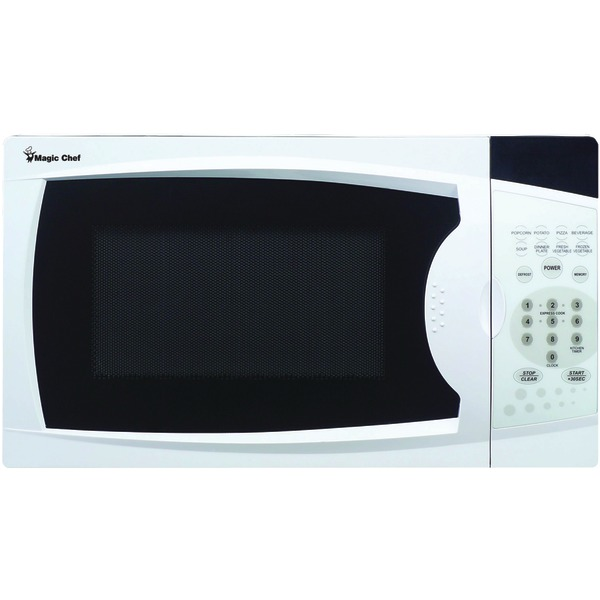 Magic Chef(R) MCM770W .7 Cubic-ft, 700-Watt Microwave with Digital Touch (White)