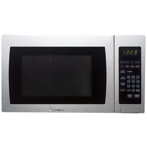 Magic Chef(R) MCM990ST .9 Cubic-ft, 900-Watt Microwave with Digital Touch (Stainless Steel)