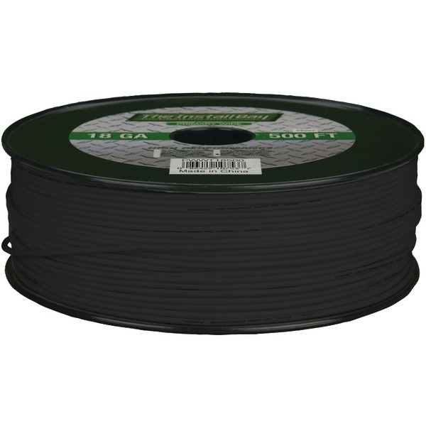 Install Bay(R) PWBK18500 18-Gauge Primary Wire, 500ft (Black)
