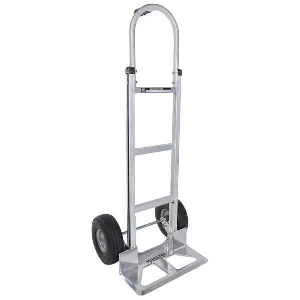 Monster Trucks(TM) MT10008 Aluminum Hand Truck with Foam Rubber Tires (Stick Handle)