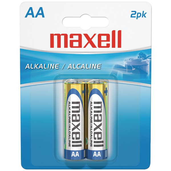 Maxell(R) 723407 - LR62BP Alkaline Batteries (AA; 2 pk; Carded)