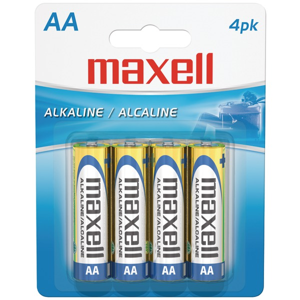 Maxell(R) 723465 - LR64BP Alkaline Batteries (AA; 4 pk; Carded)