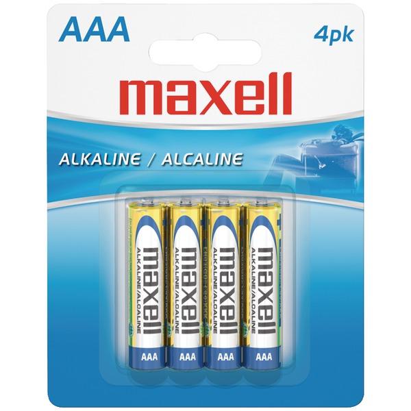 Maxell(R) 723865 - LR034BP Alkaline Batteries (AAA; 4 pk; Carded)