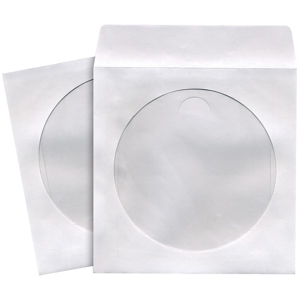 Maxell(R) 190133 - CD402 CD/DVD Storage Sleeves (100 pk; White)