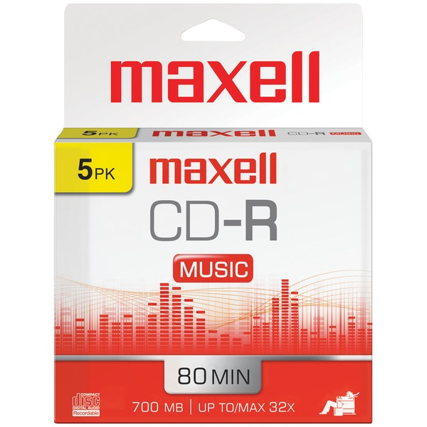 Maxell(R) 625132 80-Minute Music CD-Rs (5 pk)