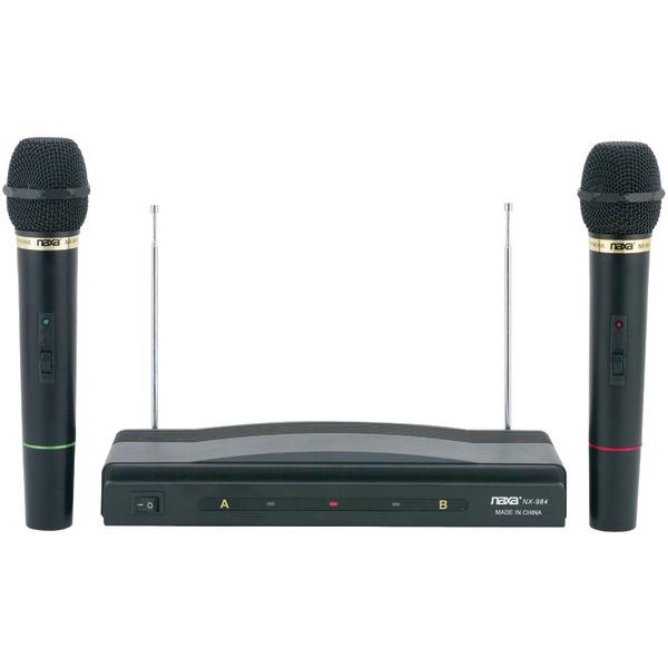 Naxa(R) NAM-984 Professional Dual Wireless Microphone Kit