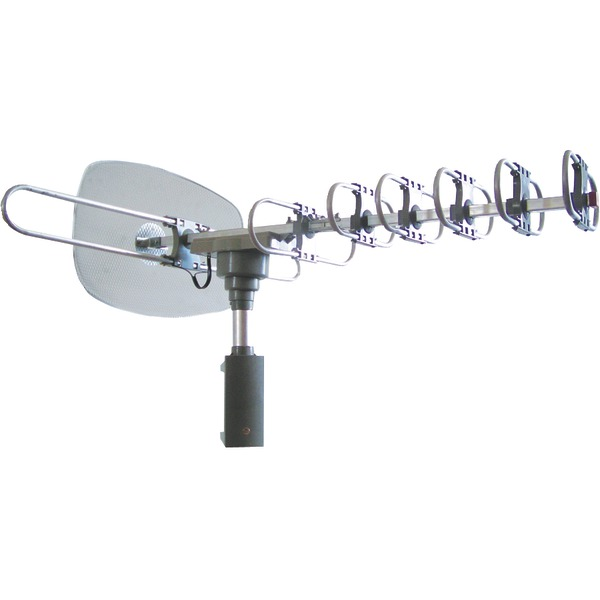 Naxa(R) NAA-351 High-Powered Amplified Motorized Outdoor ATSC Digital TV Antenna with Remote