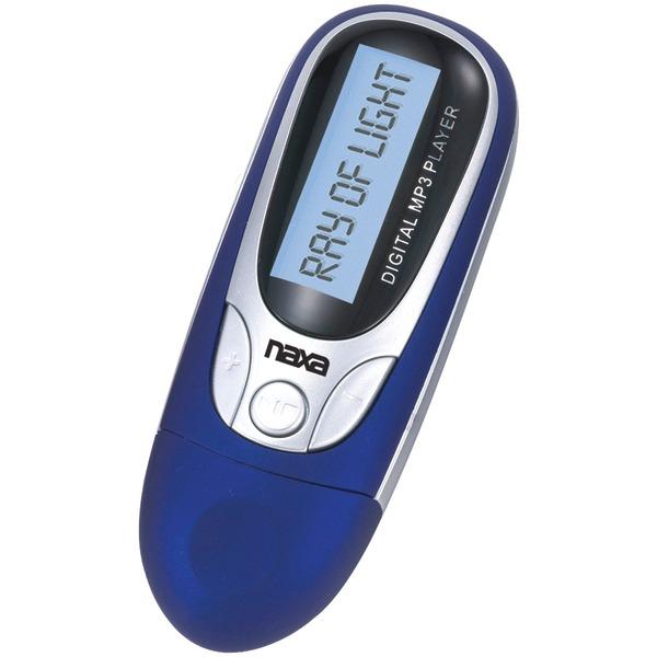 Naxa(R) NM105BL 4GB MP3 Player with FM Radio (Blue)
