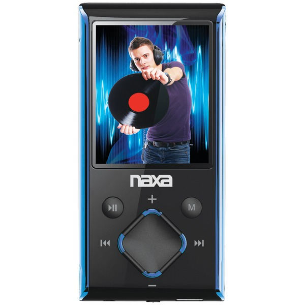 "Naxa(R) NMV173NBL 4GB 1.8"" LCD Portable Media Players (Blue)"