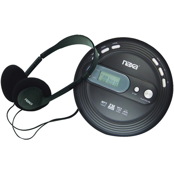 Naxa(R) NPC330 Slim Personal CD/MP3 Player with FM Radio