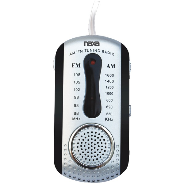 Naxa(R) NR721BK AM/FM Mini Pocket Radio with Speaker (Black)