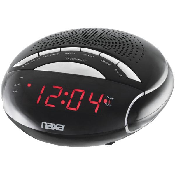 Naxa(R) NRC170 Digital Alarm Clock with AM/FM Radio