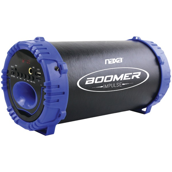 Naxa(R) NAS-3084 BLUE BOOMER IMPULSE LED Bluetooth(R) Boom Box (Blue)