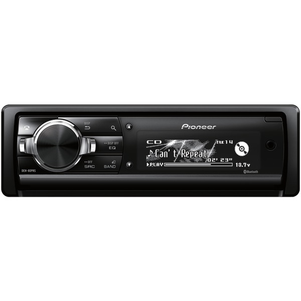 Pioneer(R) DEH-80PRS Single-DIN In-Dash CD Receiver with Bluetooth(R)