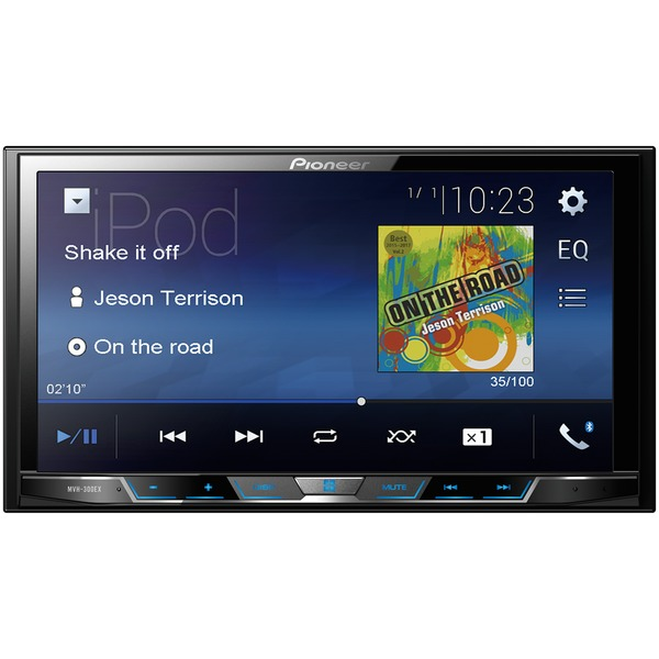 "Pioneer(R) MVH-300EX 7"" Double-DIN In-Dash Digital Media & A/V Receiver with Bluetooth(R)"