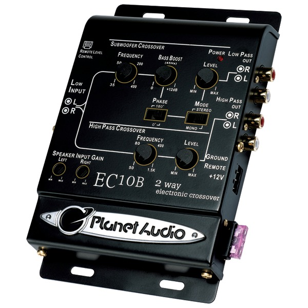 Planet Audio(R) EC10B 2-Way Electronic Crossover