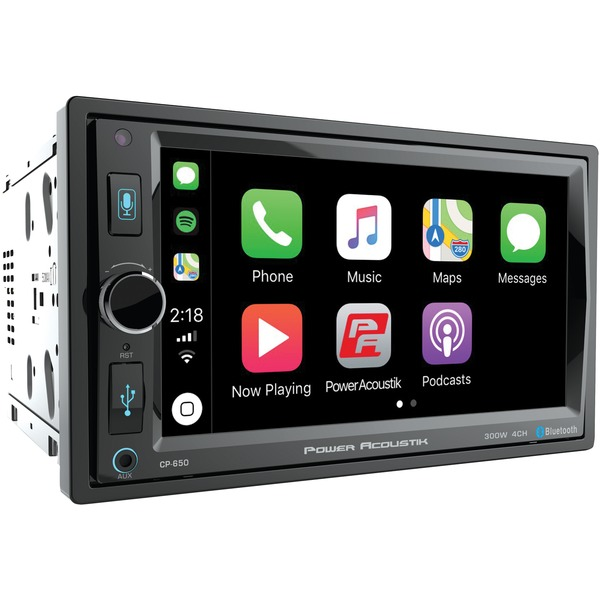 "Power Acoustik(R) CP-650 6.5"" In-Dash Double-DIN Digital Media Receiver with Bluetooth(R) & Apple CarPlay(TM)"