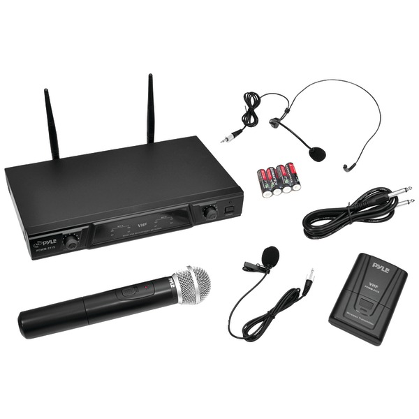 Pyle Pro(R) PDWM2115 VHF Wireless Microphone Receiver System with Independent Volume Control