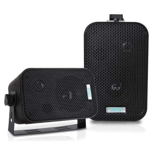 Pyle(R) PDWR30B 3.5'' Indoor/Outdoor Waterproof Speakers (Black)