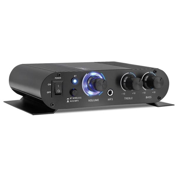 Pyle Home(R) PFA330BT 90-Watt Mini Blue Series Compact Bluetooth(R) Amp