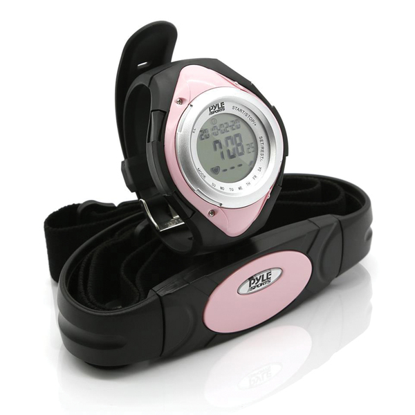 Pyle Pro(R) PHRM38PN Heart Rate Monitor Watch with Minimum, Average & Maximum Heart Rate (Pink)