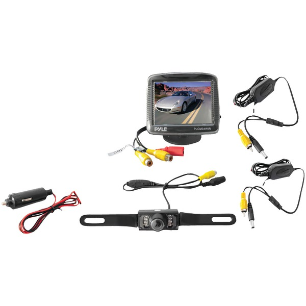 """Pyle(R) PLCM34WIR 3.5"""" Wireless Backup Camera & Monitor System with Night Vision"""