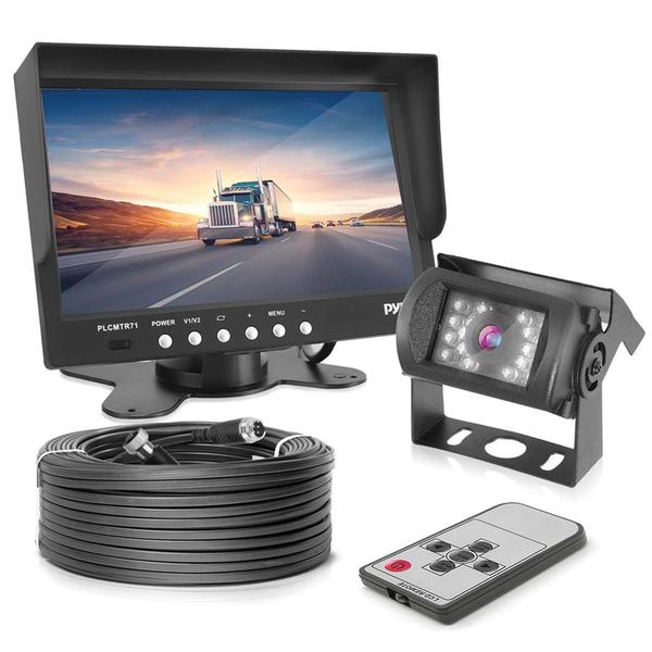 "Pyle(R) PLCMTR71 7"" Weatherproof Backup Camera System with IR Night Vision Camera"